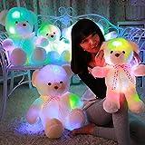 MFEIR Farbenreicher und beleuchtender Teddybär Puppe Kuscheltier Geburtstagsgeschenk für Mädchen...