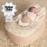 Bambeano Baby Sitzsack - Natur – Inklusive kostenlosem 'Toddler Bean Bag' Bezug