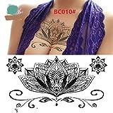 Trendige Kreativ-Makeup-Tools Frauen Brust Aufkleber temporäre Tattoos wasserdichte Tattoos abnehmbare Körper Aufkleber (Farbe : BC010#)