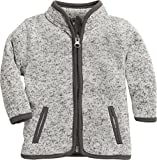 Schnizler Unisex Baby Strickfleece-Jacke mit Kontrastnähten, Oeko-Tex Standard 100, Grau (Grau 33), 56