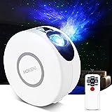 Sternenhimmel Projektor, JOMARTO 2 IN 1 LED Projektor und Nachtlicht 3 Stufens von einstellbare Geschwindigkeit und Helligkeit Projektor Lampe mit Fernbedienung Perfekt für DECO Party-Weiß (1Weiß)