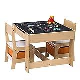 WOLTU 3tlg. Kindersitzgruppe Kindertisch mit 2 Stühle Sitzgruppe mit Stauraum für Kinder...