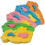 Baby Badeschwamm Sitzschwamm Badeunterlage Für Babys ab der Geburt Gr.MAXI inkl. Waschschwamm (2...