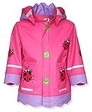Playshoes Baby - Mädchen Regenbekleidung 408583 Regenmantel / Regenjacke Glückskäfer von...