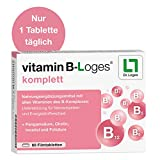 vitamin B-Loges® komplett Nahrungsergänzung - 60 Tabletten, Komplex aus allen B-Vitaminen und...