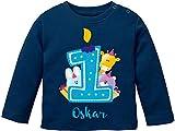 EZYshirt® Geburtstagsgeschenk Baby | 1. Geburtstag niedliche Tiere feiern die erste Geburtstags...