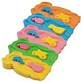 Baby Badeschwamm Sitzschwamm Badeunterlage Für Babys ab der Geburt Gr.MIDI inkl.Waschschwamm (2...