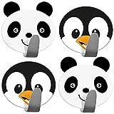 Tatkraft Friends 4er Pack Klebehaken Kinder, Handtuchhalter Aus Edelstahl, Panda Pinguin Design,...