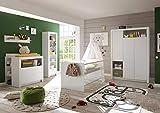 lifestyle4living Babyzimmer Komplett-Set in weiß, Babyzimmer Komplettset besteht aus 4 Teilen,...