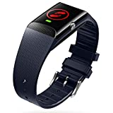 V-SOS Band by Vodafone  - Armband mit SOS-Alarm-Taste und Fallerkennung, schwarz