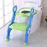 BALLSHOP Lerntöpfchen Toilettentrainer mit Treppe Höhenverstellbar Toilettensitz Kinder Baby WC-Sitz Grün