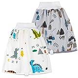 FLYISH DIRECT 2 Stück Baby Trainingshose Sleepy Windelhose Urinpolster Klimmzüge Lernhose High Waist Cotton Potty Underwear Windelunterwäsche, L(4-8T), 4-8 Jahre