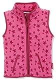 Playshoes Kinder Fleeceweste Allover Sterne Weste, Pink, 80