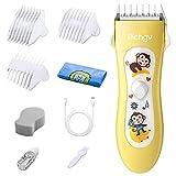 Haarschneider/Trimmer, Richgv Profi Baby Haarschneidemaschine Elektrische Wiederaufladbare Haartrimmer Set, Electric Hair Clipper Kit für Baby und Kinder (gelb)
