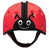 SHB001 Babyhelm Marienkäfer, Kopfschutz für Babys, rot