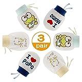 NOCHME Fäustlinge Baby Neugeboren Junge Mädchen 0-3-6-10 Monate,3 Paar Superweiche Verstellbar...