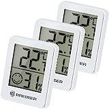 Bresser Thermometer Hygrometer Temeo Hygro Indicator 3er Set zum Aufstellen oder zur Wandmontage mit Raumklima-Indikator