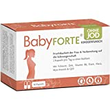 BabyFORTE® Kinderwunsch Vitamine OHNE JOD - 60 Kapseln - Vegan - 17 Nährstoffe + Folsäure, Myo Inositol, Q10 + Vitamine Schwangerschaft ohne Jod