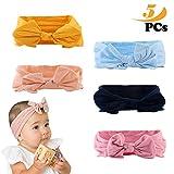 Baby Stirnbänder,5 farbe Cute Baby Kleinkind Infant Circle Stirnband Stretch Haarband Headwear