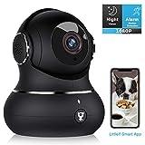 Überwachungskamera Littlelf 1080P HD WLAN IP Kamera WiFi Kamera mit 360°Schwenkbare Baby Monitor,...