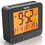 Hama Funk-Wecker Digital RC550 (Funkuhr mit Nachlicht, Digitalwecker mit Temperatur- und...
