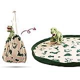 snugo®️ Aufräumdecke Dino I 2in1 Spieldecke & Spielzeugbeutel I handgemachter Spielzeugsack aus...