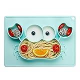 Baby Teller Schüssel Mini Silikon Tischset für Baby Kleinkinder und Kinder Tragbar Teller Baby...
