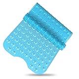 SilverRack Badewannenmatte DermaSensitivo 100% BPA frei (Blau) - Badewanneneinlage rutschfest 100x40...