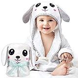 Kaome Baby Handtuch Kapuze Bio-Bambus Badetuch Kapuzenhandtuch Baby Großes weiches und super saugfähiges maschinenwaschbares Kleinkinder Badetücher mit niedlichen Ohren für Babybaden, 0-2 Jahre
