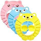 Einstellbare Baby Duschhaube, ZoneYan Duschhaube Baby, Baby Shampoo Schutz, Kinder Shampoo Kappe, Shampooaugenschutz, mit Augenschutz Ohrenschutz, für Kleinkind Babypflege, 3er Pack