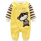 Baby Strampler Spielanzug Jungen Mädchen Schlafanzug Baumwolle Overalls Baby-Nachtwäsche, 3-6...