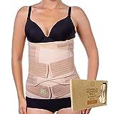 KeaBabies 3-in-1-Packung Zur Unterstützung Der Genesung Nach Der Geburt - Bauchband Für Schwangerschaft, Mutterschaft - Gürtel Für Frauen Body Shaper - Shapewear Gürtel (Classic Ivory, One Size)