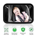 Yhomie Rücksitzspiegel für Babys Bruchsicherer Auto-Rückspiegel für Babyschale mit großem...