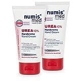 numis med Handcreme mit 10% Urea - 2er Pack Hautberuhigende Hand Creme für sehr trockene &...