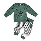sunnymi Baby Jungen Bekleidungssets,0-4 Jahre Kleinkind Kinder Baby Jungen Hoodie Cartoon Bär Sweatshirt Tops + Hosen Outfits Set