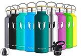 Super Sparrow Trinkflasche Edelstahl - 500ml - Auslaufsicher Thermoskanne, BPA-Frei Wasserflasche -...