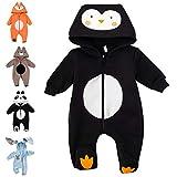 Baby Sweets Baby Tier Strampler Unisex schwarz im Motiv: Pinguin/Baby-Overall als Tierstrampler mit...