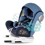 Bonio Kindersitz 360 ° Drehbar Autositz ISOFIX Gruppe 0+/1/2/3 (0-12 Jahre alt) 0-36kg mit Seitenschutz Blau