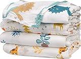 Musselin Decke Swaddle Pucktücher aus Puckdecken - 4 Stück Bambus Baumwolle Baby Einschlagdecke, Spucktücher - weiche Baby Decken