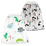 FLYISH DIRECT 2 Stück Baby Trainingshose Sleepy Windelhose Urinpolster Klimmzüge Lernhose High Waist Cotton Potty Underwear Windelunterwäsche, 4-8Jahre, L