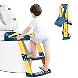 Barakara Toilettensitz Kinder, Toilettensitz Kinder mit Treppe Tragbarer Training Töpfchensitz für...