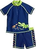 Playshoes Jungen UV-Schutz Bade-Set Krokodil Badehose, Blau (Marine 11), 86 (Herstellergröße:...