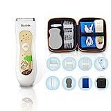 Bimirth Kinder Haarschneidemaschine, Leise Baby Haarschneider, USB Wiederaufladbare Haartrimmer für Baby mit Aufbewahrungstasche, Wasserdicht, 3 Führungskämme