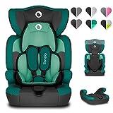 Lionelo Levi One Kindersitz 9-36kg Kindersitz Auto höhenverstellbare vertiefte Kopfstütze Seitenschutz abnehmbare Rückenlehne Sitzverkleinerer 5-Punkt-Gurte (Lagoon)