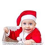 CHAOCHI Weihnachtsmütze, Nikolausmütze Plüsch für Baby, Mütze Weihnachten für Kinder