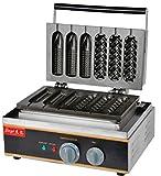 1105/5000 Hanchen FY-216 2 in 1 Gewerblicher Gebrauch Nonstick Elektrische Mais Waffel Hund Maschine Baker & Edelstahlhalter Stand 110 v / 220 v