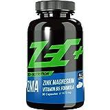 ZEC+ ZMA - 90 Kapseln, hochwertiger Komplex mit wertvollem Zink, Magnesium & Vitamin B6, Nahrungsergänzung für normalen Stoffwechsel und zur Erhaltung normaler Knochen, Haare und Haut, Made in Germany