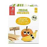 Freche Freunde Bio Knusper-Schnitte Banane & Kürbis, Knusperbrot für Babys ab 8 Monaten, Baby...