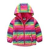 umkaumka Softshell Jacke für Mädchen Fleece gefüttert mit Kapuze Gr.92, Softshelljacke Mädchen Übergangsjacke mit Reflektoren Prinzessin Einhorn