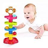 YGJT Baby Spielzeug ab 6 Monate Kugelbahn | Motorikspielzeug ab 1 Jahr mit 5 Schichte Ball Drop |...